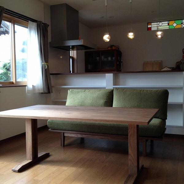 納品ブログ-ダイニングソファのある暮らし-