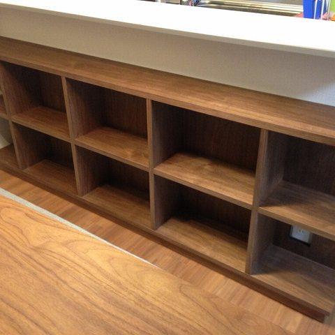 納品ブログ -造作家具ですっきりカウンター下収納-