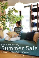Summer Sale  - 5th Anniversary-  16.7.16(sat)-8.15(mon)