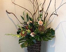 大型装花5000円シックなイメージの装花