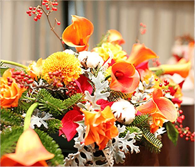 結婚式会場の装花イメージ