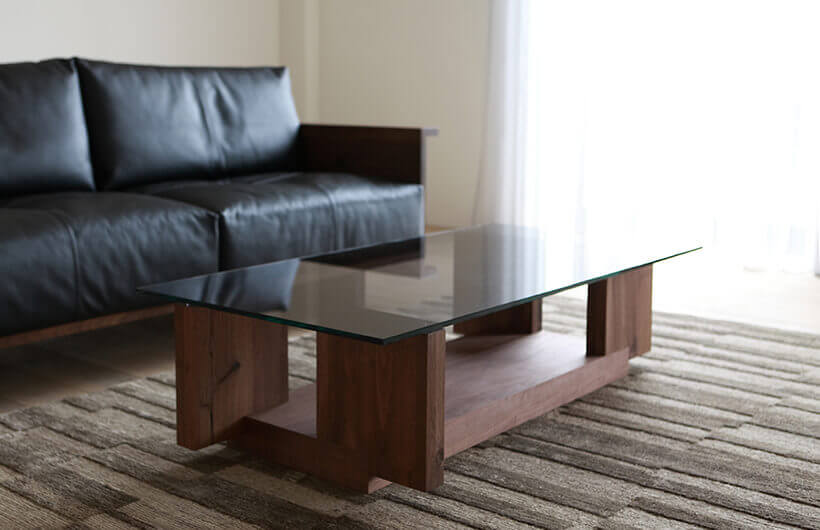 CARAMELLA Living Table glass